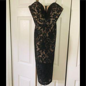 Jarlo deep v lace cocktail dress